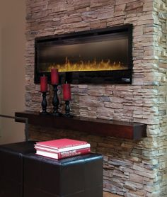 Dimplex Synergy 50 In Electric Fireplace BLF50 Wall mount