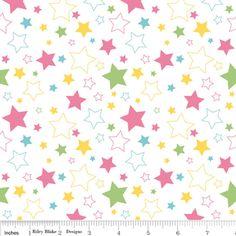 Riley Blake Designs - Stars - Stars in Girl