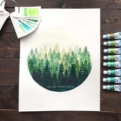 "4,093 Likes, 71 Comments - Lost Paper Co (@lostpaperco) on Instagram: ""Here's a larger redo of a piece I did months ago. Send me some 🌲 if you like this piece too ☺️💚 . .…"""