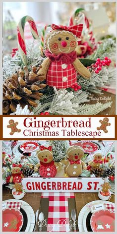 Gingerbread Christmas Decor, Gingerbread Crafts, Gingerbread Decorations, Christmas Swags, Gingerbread Man, Christmas Crafts, Holiday Party Themes, Christmas Themes, Retro Christmas Decorations