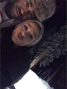 Ariana Grande and Big Sean celebrated the holidays together and in one very snowy locale.