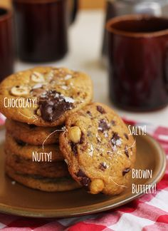 Hazelnut Brown Butter Chocolate Chip Cookies | The Sugar Hit