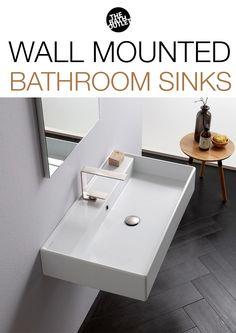 29 best wall mounted bathroom sinks images wall mounted bathroom rh pinterest com