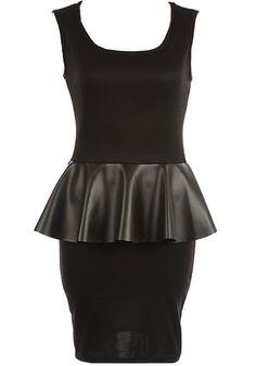 Leather Peplum Dress