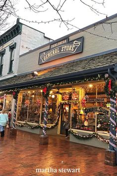 Tucked away in northern Georgia, about 75 miles from Atlanta, the town of Dahlonega comes alive at Christmastime—its residents welcome everyone to partake in festive events and holiday displays around town. Main Street may look somewhat familiar to you, as it's regularly featured in Hallmark movies. #christmas #holidayideas #christmasideas #wintertodo #marthastewart Christmas Destinations, Vacation Destinations, Dream Vacations, Vacation Spots, Christmas Town, Christmas Travel, Xmas, Holiday Travel, Christmas Holidays
