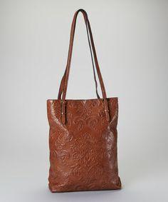 2b51ae8ce8d Brown Embossed Leather Tote Tool Tote, Best Handbags, Tote Handbags,  Beautiful Bags,
