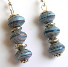 Supports a charity working in Nicaragua with women - they created these paper bead earrings to support their families