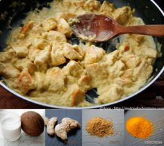 pollo al cocco e curry ricetta indiana/pui indian cu lapte de cocos si curry  http://matrioskadventures.com/2013/04/12/pollo-indiano-al-cocco-e-curry-pui-indian-cu-cocos-si-mirodenii/