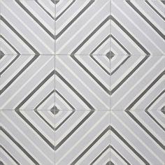 Sabine Hill - Cement Encaustic Tile modern-wall-and-floor-tile Bath Tiles, Ceramic Floor Tiles, Concrete Tiles, Cement, Modern Floor Tiles, Wall And Floor Tiles, Modern Wall, Graphic Patterns, Tile Patterns