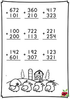 Addition And Subtraction Practice, Math Addition Worksheets, Math Practice Worksheets, First Grade Math Worksheets, English Worksheets For Kids, Subtraction Worksheets, School Worksheets, Math Charts, Maths Solutions