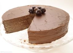 Nutella cake and wafers - Cooking Recipes Nutella Cake, Chocolate Dreams, Chocolate Recipes, Yummy Cakes, Fun Desserts, Sweet Recipes, Dinner Recipes, Cooking Recipes, Sweets