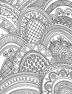 Pat Catans Blog Abstract Zentangle Coloring Page For Adults Kleuren Voor