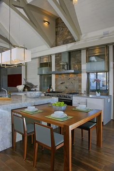 West Chop Residence Kitchen - contemporary - kitchen - Martha's Vineyard Interior Design