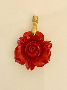 Red rose  pendant carved bakelite necklace gold plated chain  vintage jewelry gifts rose:  1 inch diameter  gold 18k CP bail   https://www.etsy.com/shop/CoCoBlueTreasures