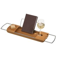 gondola bathtub caddy...i need a big tub and this!