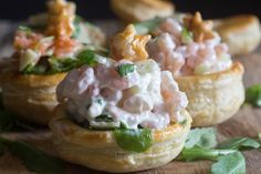 Vol au Vent Appetizers - An Italian in my Kitchen Vol Au Vent, Christmas Appetizers, Smoked Salmon, Yummy Appetizers, Finger Foods, Baked Potato, Potato Salad, Shrimp, Stuffed Mushrooms