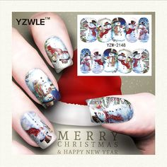 0.10$  Watch now - http://alisij.shopchina.info/go.php?t=32737342959 - YZWLE 1 Sheet Christmas Design DIY Decals Nails Art Water Transfer Printing Stickers Accessories For Manicure Salon (YZW-2148) 0.10$ #magazineonlinewebsite