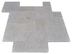 French Pattern Pearl Marble Pavers - Tumbled - modern - floor tiles - miami - by Travertine Mart