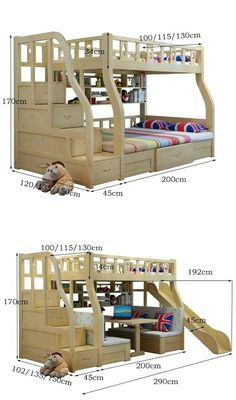 "See our internet site for even more relevant information on ""modern bunk beds for boys room"". It is an outstanding location to read more. Bunk Beds With Stairs, Cool Bunk Beds, Kids Bunk Beds, Bunk Bed With Slide, Modern Bunk Beds, Bunk Bed Designs, Loft Spaces, Bed Storage, Extra Storage"