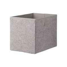 HEMA boîte de rangement - 19 x 28 x 22 cm - feutrine - gris HEMA (Gris)