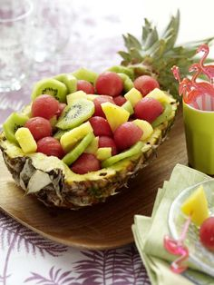 Fruit and veg, party snacks, veggie recipes, salad recipes, summer table de Veggie Recipes, Salad Recipes, Healthy Recipes, Fruit And Veg, Fruits And Veggies, Fruit Dressing, Grill Party, Good Food, Yummy Food