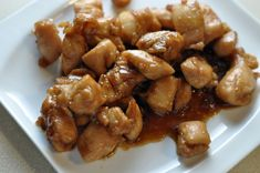 Cajun Cafe Bourbon Chicken 2 oz soy sauce 1 oz hoisin 1 oz honey 1 Tbs sugar 1/4 tsp 5- spice 1 1/2 cup water  Mix well to dissolve sugar and marinade thighs overnight. Grill or cook on griddle. Heat the marinade and thicken w cornstarch slurry. Serve w thickened sauce and enjoy!