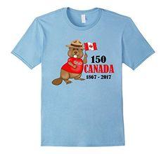 Men's Proudly Canadian Beaver 150 Anniversary T-Shirt Lar