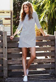 stripes + white converse