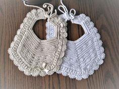 Crochet Baby Bib Idea - very cute