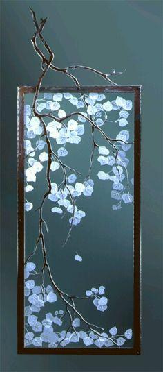 Aspen etched glass divider