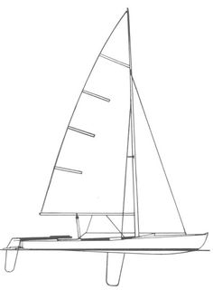 Flying Dutchman drawing on sailboatdata.com