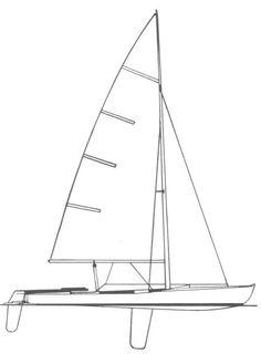 Flying Dutchman drawing on sailboatdata.com