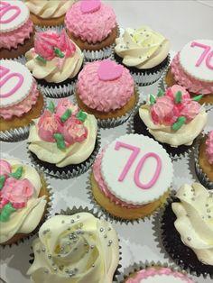 70th birthday cupcakes by ANGECUPICAKE
