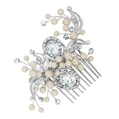 Alan Hannah Devoted Designer peardrop and pearl hand wrapped comb- at Debenhams Mobile