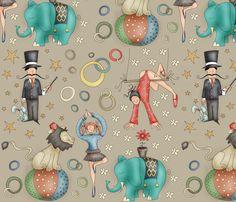 Fun Circus! fabric by catru on Spoonflower - custom fabric