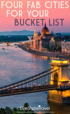 Four fabulous cities to add to your bucket list. The beauty of travel and being able to experience new cultures and sights first hand can never be underestimated. A classic city break is the perfect opportunity to holiday your way. Wherever your wanderlust takes you, a self-catering apartment is a great option, for the flexibility to explore. Tick a few more destinations off your bucket list and visit one of these four cool cities such as glorious Budapest on a self-catering break.