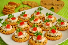 Jam Biscuit Canapes