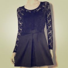 Vera Wang Perfect Black Lace Dress