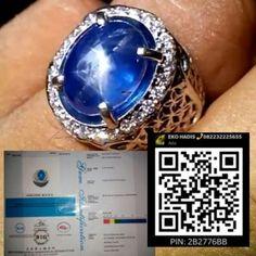 Star Sapphire 12.81Ct Sim to Royal blue No treatment Srilanka Sertificate BIG Lab Ring gold diamond  Fast Respons BBM 2B2776BB Tlp/WA +6282232225655