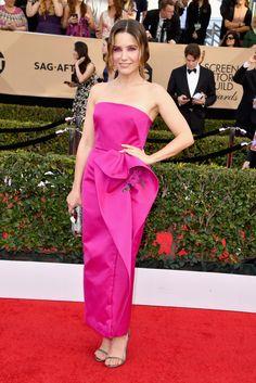 Sophia Bush Sag-Awards... 2017 This looks like a bridesmaid dress...