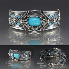 If you'd like to learn how this bracelet was made and make one yourself, I wrote a book about these wire weaving techniques.  Here is the link:  http://www.amazon.com/Timeless-Wire-Weaving-Complete-Course/dp/1627000763/ref=sr_1_1?ie=UTF8&qid=1407288793&sr=8-1&keywords=timeless+wirework                      -Lisa Barth