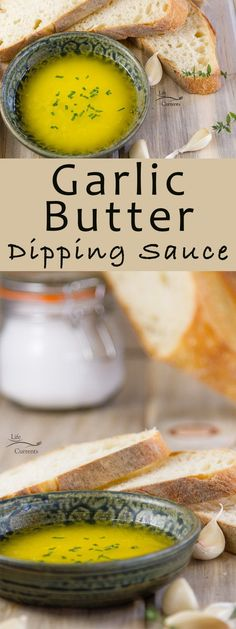 Garlic Butter Dipping Sauce Recipe Dip some crusty French or Italian bread into it, oh just garlic heaven! Yum!