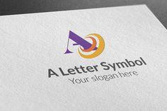 Check out A Letter Symbol Logo by BDThemes Ltd on Creative Market
