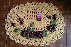 Sandra Roque Artesanatos: tapetes avulsos lavabo com aplique de flores