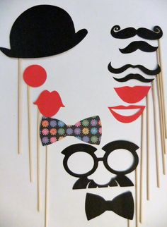 photo booth props- I think I make these!!