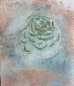 Monotype en acrylique et pastel sec : la rose. By LM Art & Co. WWW.LMONIN.CH Art, Painting