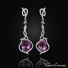 ᴊᴇᴡᴇʟʀʏ/ɢᴇᴍs/ювелирные изделия (@gemlovers.jewelry) on Instagram: Beautiful earrings made of kunzite pears and diamonds are an exclusive jewelry. It was designed by artists and jewellers team of Gem Lovers. gemlovers.jewelry#earrings#diamondearrings