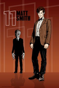 MY FAVORITE ARTIST FOR DOCTOR WHO AND OTHER BRITISH ICONS!! Doctor Who  Matt Smith The Silence  18 x 12 Digital by DadManCult, $12.99