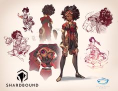 Character Design, Spiritwalk Games' Shardboundby Nicholas Kole [Follow SuperheroesInColor faceb / instag / twitter / tumblr / pinterest]