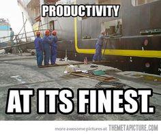 Productivity…